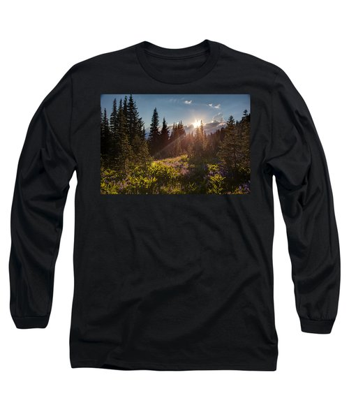 Sunlit Flower Meadows Long Sleeve T-Shirt