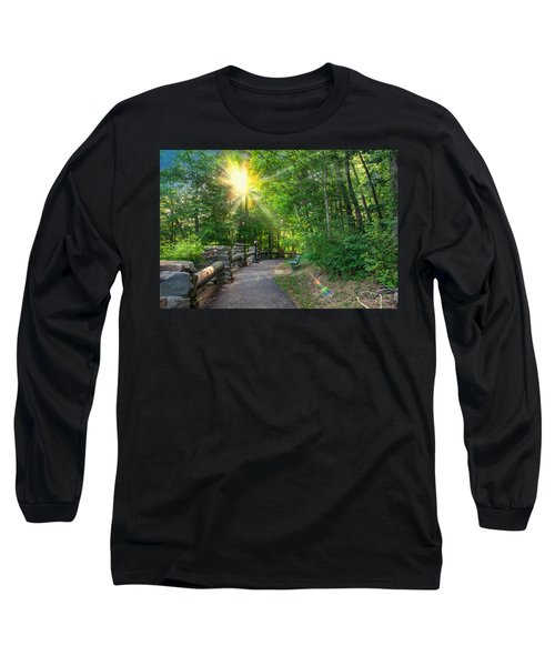 Sunlit Path Long Sleeve T-Shirt by Mary Almond