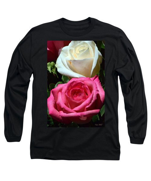 Sunlit Roses Long Sleeve T-Shirt by Marie Hicks