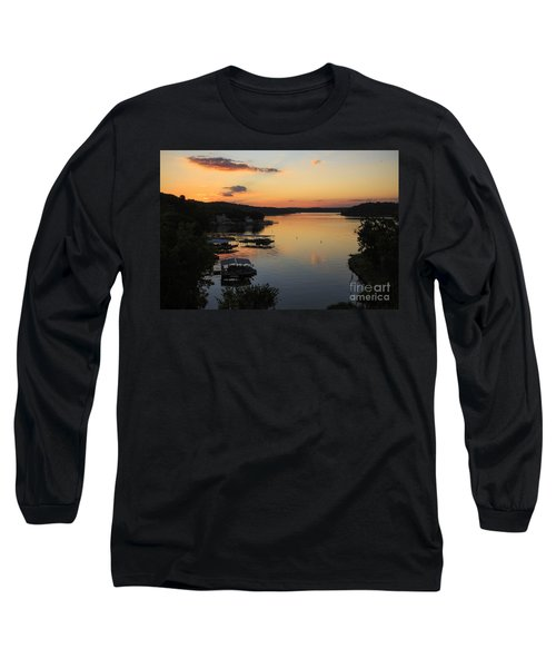 Sunrise At Lake Of The Ozarks Long Sleeve T-Shirt by Dennis Hedberg