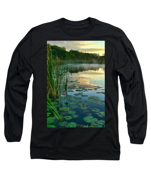 Sunrise At Pokagon State Park  Long Sleeve T-Shirt