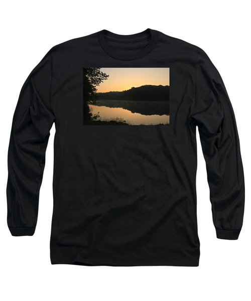 Long Sleeve T-Shirt featuring the photograph Sunrise At Rose Lake by Julie Andel