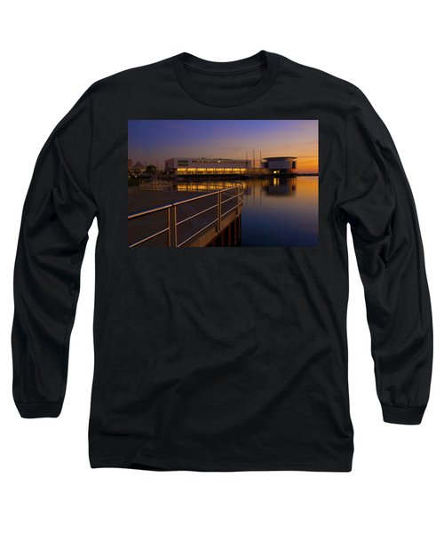 Sunrise At The Lakefront Long Sleeve T-Shirt by Jonah  Anderson