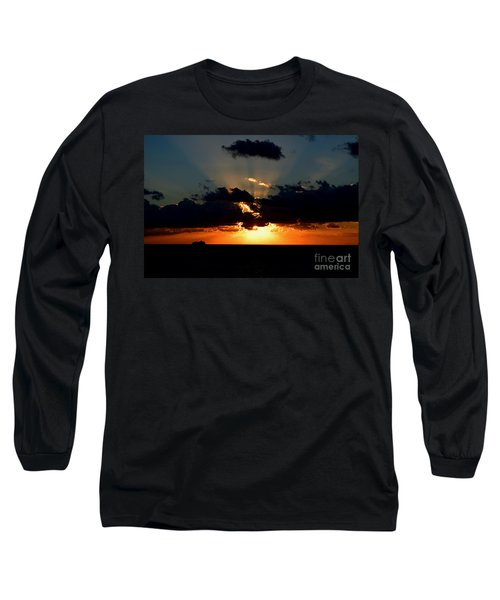 Sunset Cruise Long Sleeve T-Shirt by Gary Smith
