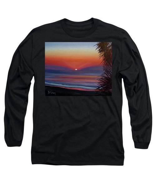 Long Sleeve T-Shirt featuring the painting Sunrise Glow by Donna Tuten