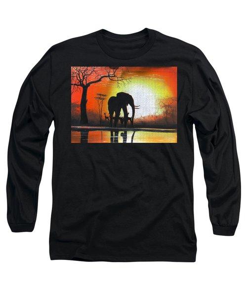 Sunrise In Africa Long Sleeve T-Shirt