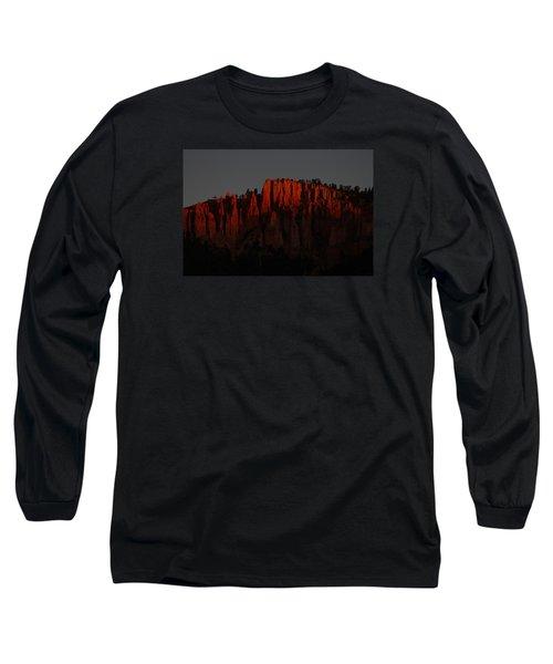 Sunrise In The Desert Long Sleeve T-Shirt by Menachem Ganon