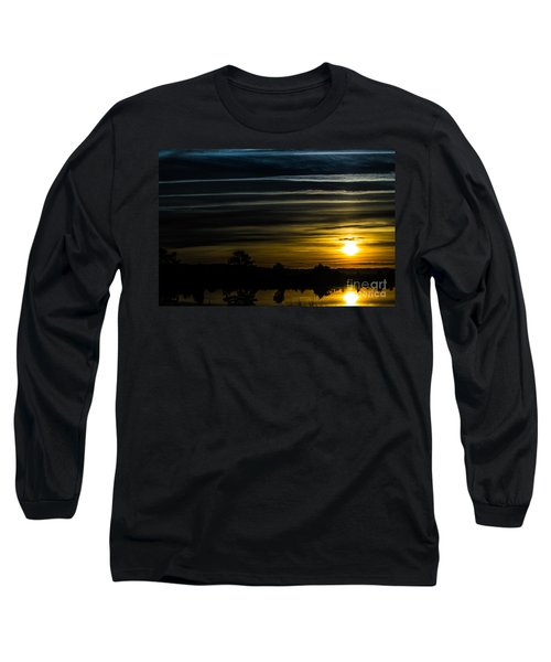 Long Sleeve T-Shirt featuring the photograph Sunrise In Virginia by Angela DeFrias