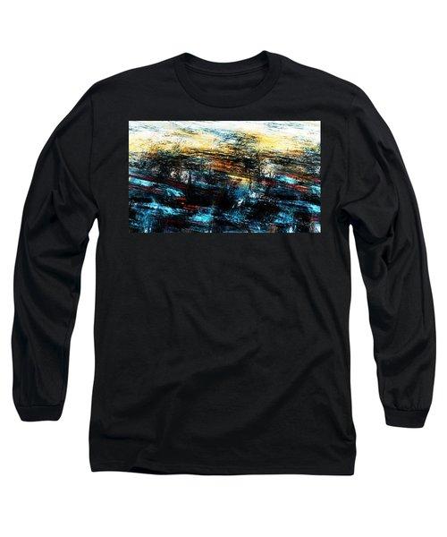 Long Sleeve T-Shirt featuring the digital art Sunset 083014 by David Lane