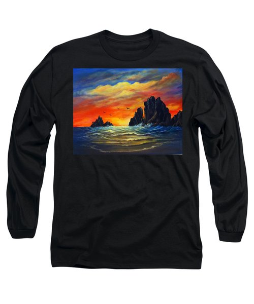 Sunset 2 Long Sleeve T-Shirt by Bozena Zajaczkowska