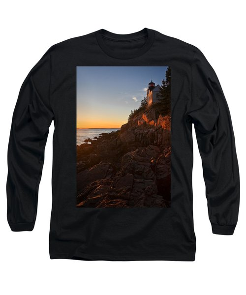 Long Sleeve T-Shirt featuring the photograph Sunset At Bass Head   by Priscilla Burgers