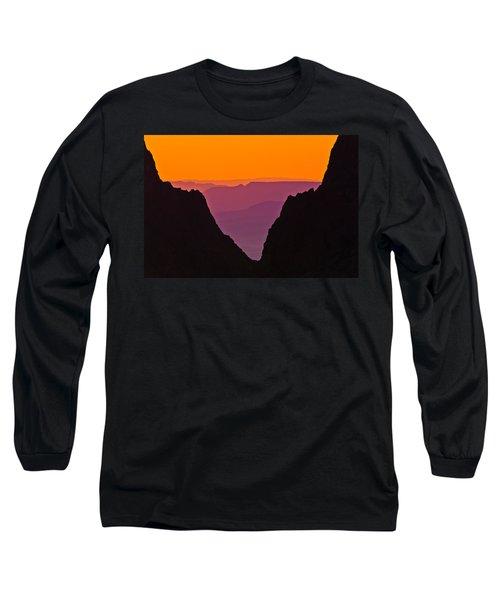 Sunset At Big Bend Long Sleeve T-Shirt