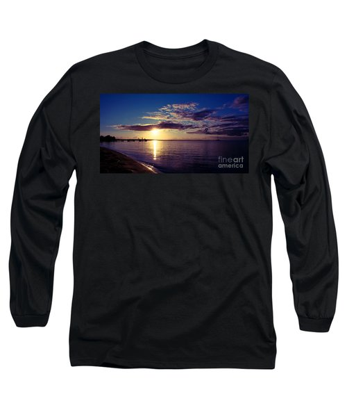 Sunset At Monkey Mia Long Sleeve T-Shirt by Yew Kwang