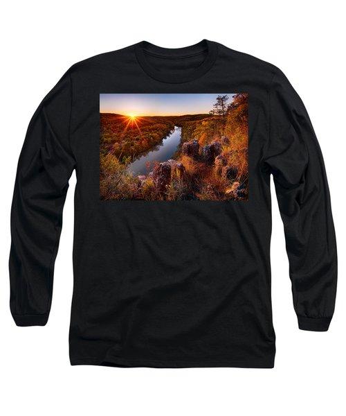 Sunset At Paint-rock Bluff Long Sleeve T-Shirt