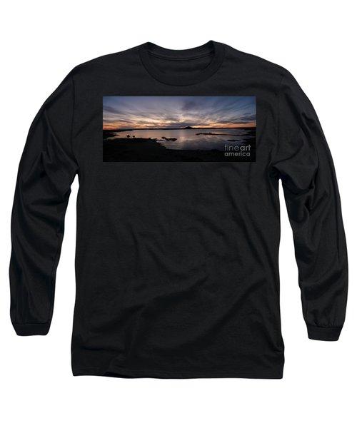 Sunset Over Lake Myvatn In Iceland Long Sleeve T-Shirt by IPics Photography