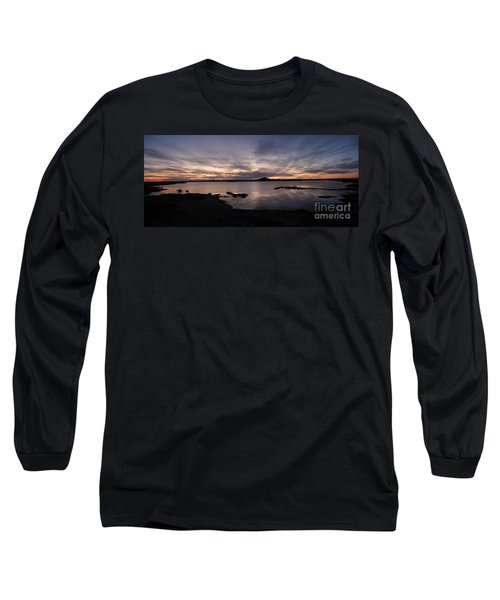 Sunset Over Lake Myvatn In Iceland Long Sleeve T-Shirt
