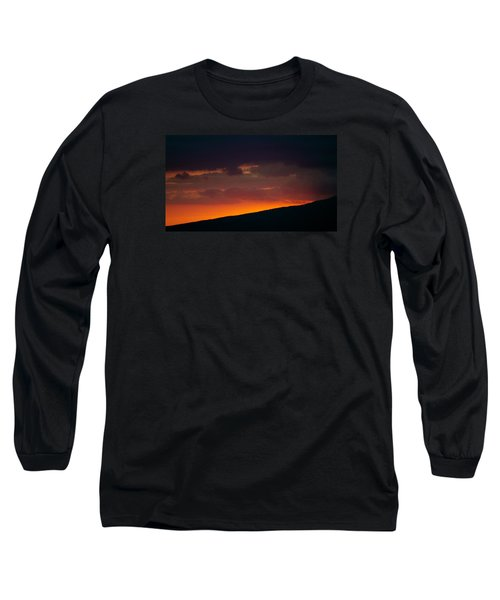 Sunset Beyond The Waianae Mountain Range Long Sleeve T-Shirt by Lehua Pekelo-Stearns
