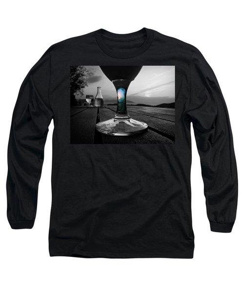Sunset Cafe Long Sleeve T-Shirt by Micki Findlay