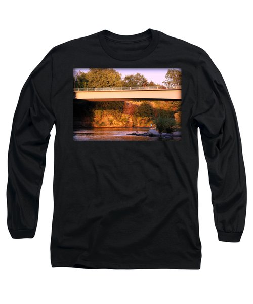 Long Sleeve T-Shirt featuring the photograph Sunset Dip by Melanie Lankford Photography