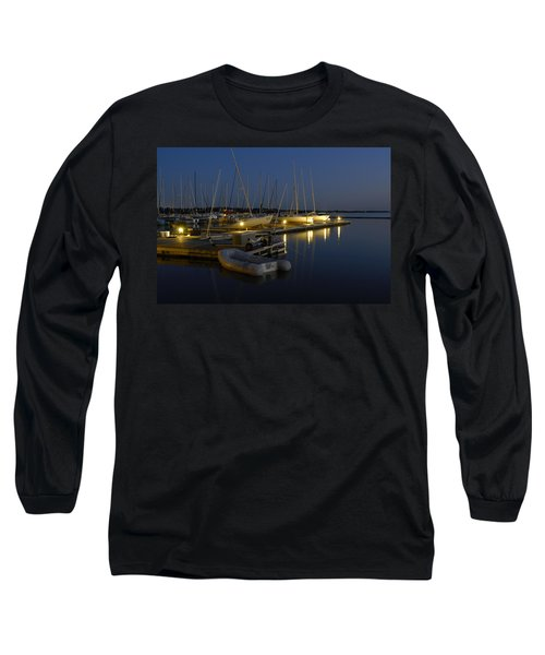 Sunset Dock Long Sleeve T-Shirt by Charles Beeler
