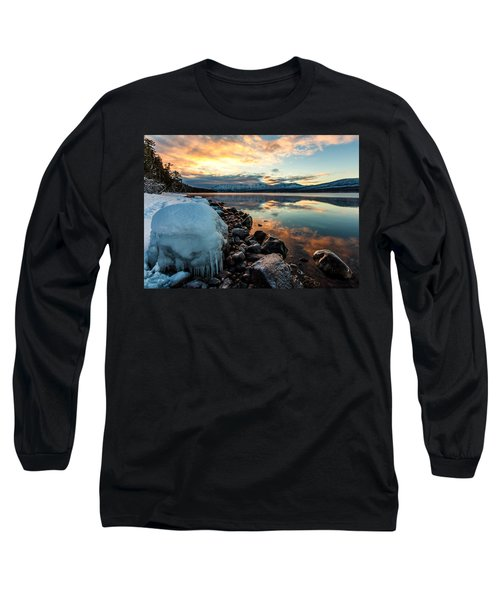 Long Sleeve T-Shirt featuring the photograph Sunset Frozen by Aaron Aldrich
