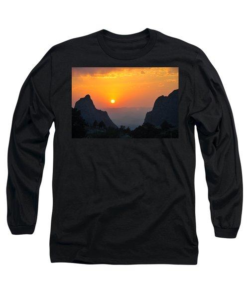 Sunset In Big Bend National Park Long Sleeve T-Shirt