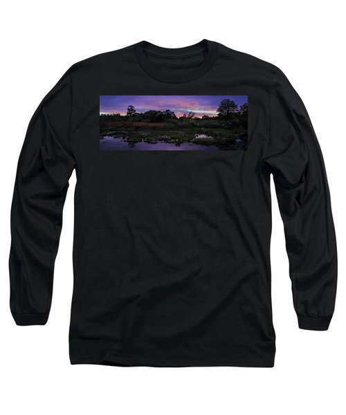 Sunset In Purple Along Highway 7 Long Sleeve T-Shirt