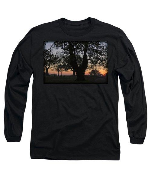 Sunset In Richmond Park Long Sleeve T-Shirt by Maj Seda