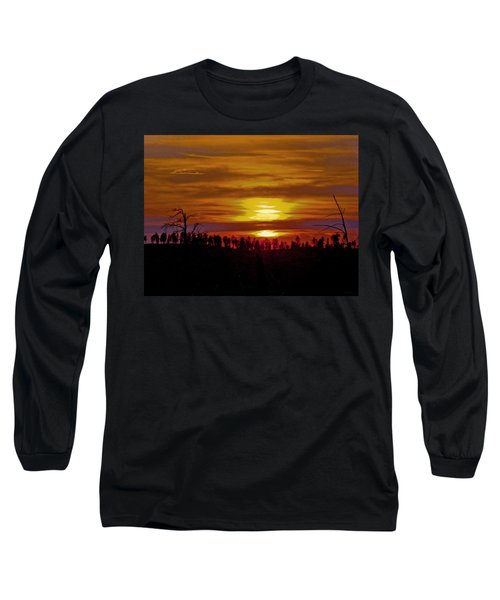 Long Sleeve T-Shirt featuring the photograph Sunset In The Black Hills 2 by Cathy Anderson