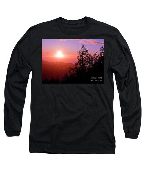 Sunset Off Mt Erie Washington Art Prints Long Sleeve T-Shirt