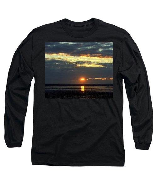 Sunset On A Cloudy Evening Long Sleeve T-Shirt