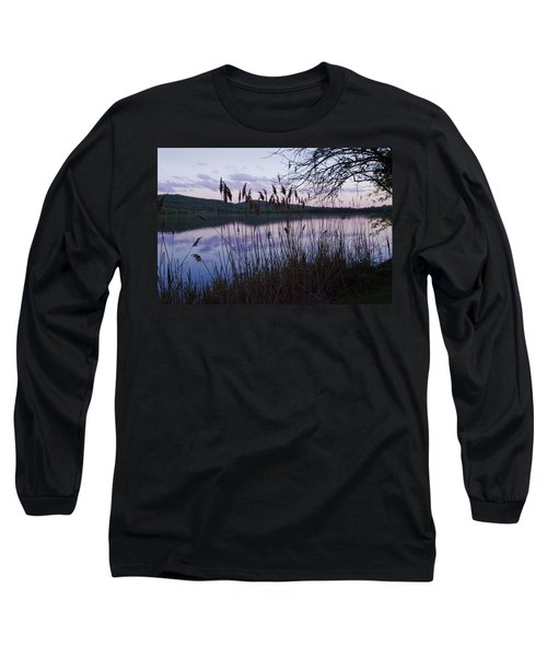 Sunset On Rockland Lake - New York Long Sleeve T-Shirt by Jerry Cowart