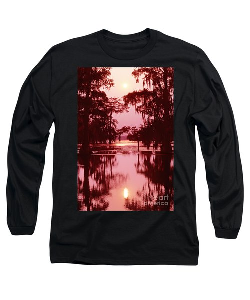 Long Sleeve T-Shirt featuring the photograph Sunset On The Bayou Atchafalaya Basin Louisiana by Dave Welling