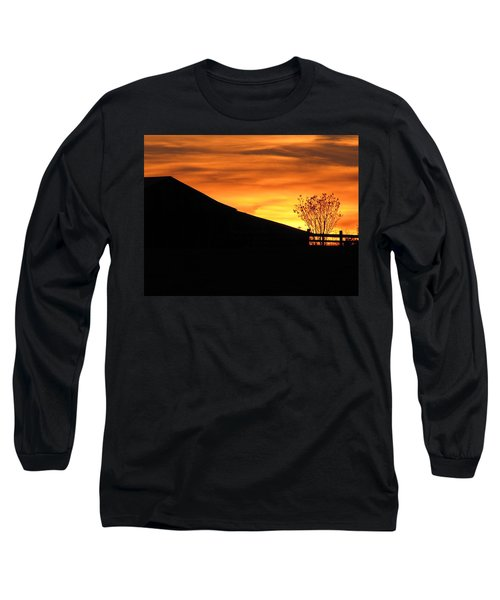 Long Sleeve T-Shirt featuring the photograph Sunset On The Farm by Greg Simmons