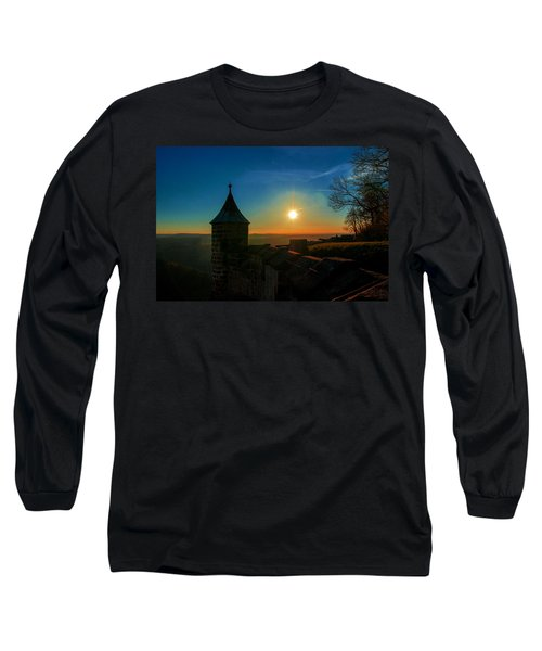 Sunset On The Fortress Koenigstein Long Sleeve T-Shirt