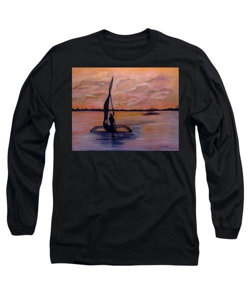Sunset On The Nile Long Sleeve T-Shirt