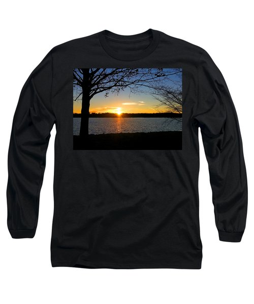 Sunset On The Potomac Long Sleeve T-Shirt by Emmy Marie Vickers