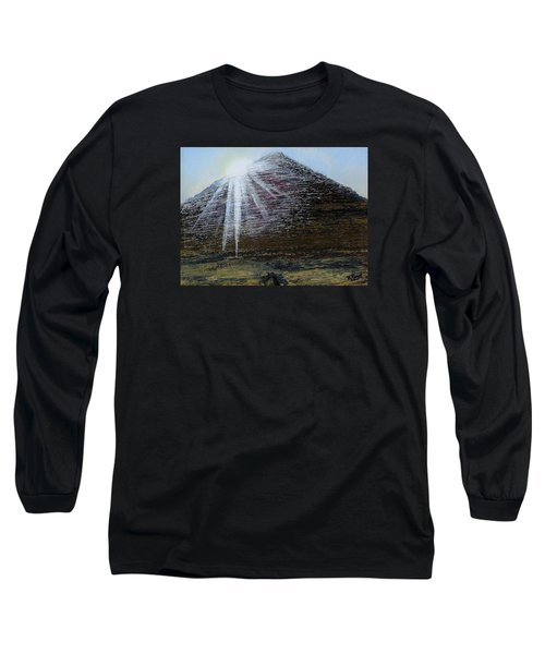 Sunset Over Khufu Long Sleeve T-Shirt