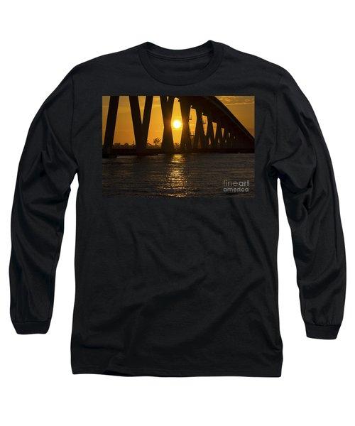 Sunset Over Sanibel Island Photo Long Sleeve T-Shirt