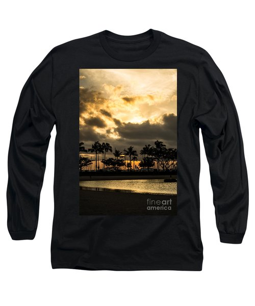 Sunset Over Waikiki Long Sleeve T-Shirt