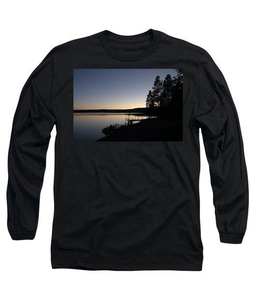 Sunset Over Yellowstone Lake Long Sleeve T-Shirt