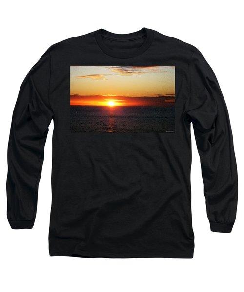 Sunset Painting - Orange Glow Long Sleeve T-Shirt
