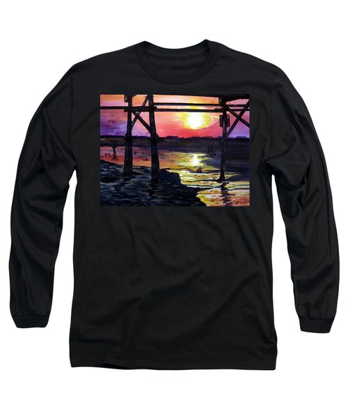 Sunset Pier Long Sleeve T-Shirt by Lil Taylor