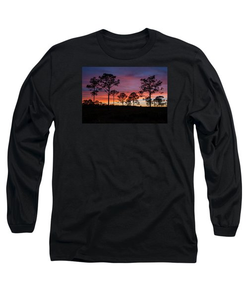 Long Sleeve T-Shirt featuring the photograph Sunset Pines by Paul Rebmann