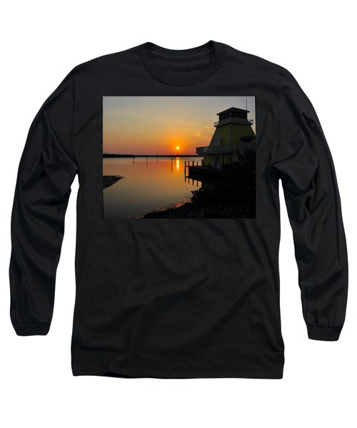 Sunset Reflections Long Sleeve T-Shirt by Jim Brage