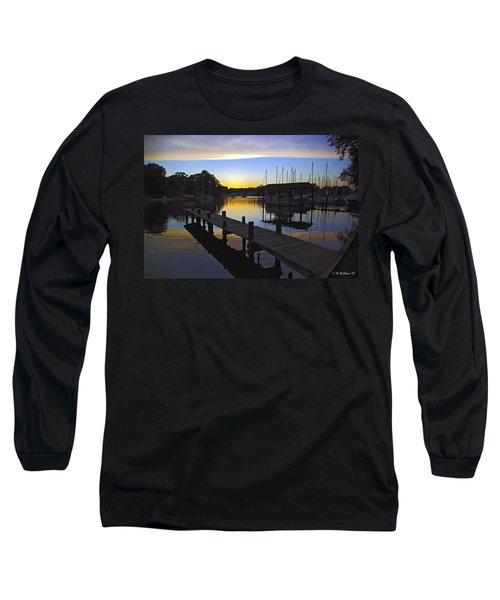 Long Sleeve T-Shirt featuring the photograph Sunset Silhouette by Brian Wallace