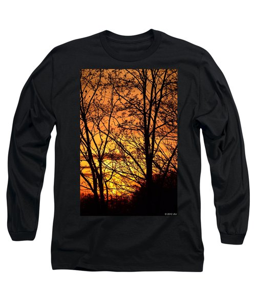 Long Sleeve T-Shirt featuring the photograph Sunset Silhouettes Behind The George Washington Masonic Memorial by Jeff at JSJ Photography