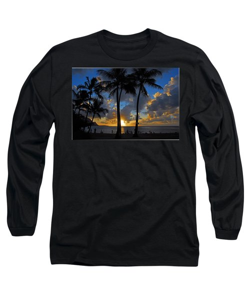 Sunset Silhouettes Long Sleeve T-Shirt by Lynn Bauer