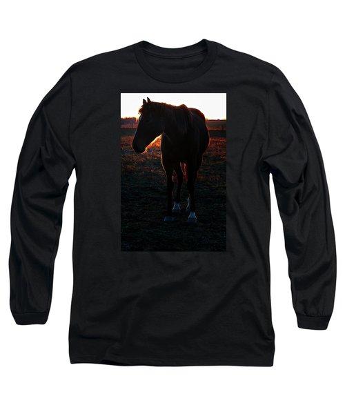 Long Sleeve T-Shirt featuring the photograph Sunset Splendor by Robert McCubbin