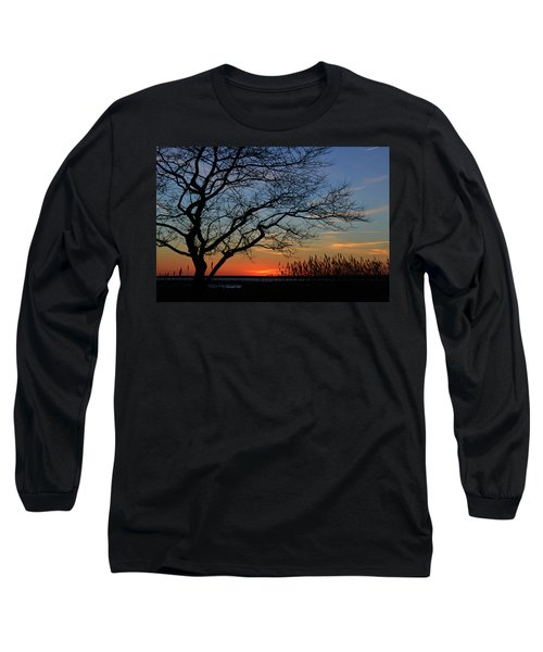 Sunset Tree In Ocean City Md Long Sleeve T-Shirt